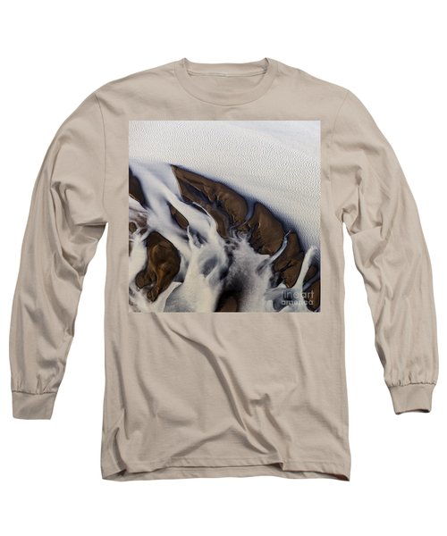 Aerial Photo Thjosa Iceland Long Sleeve T-Shirt