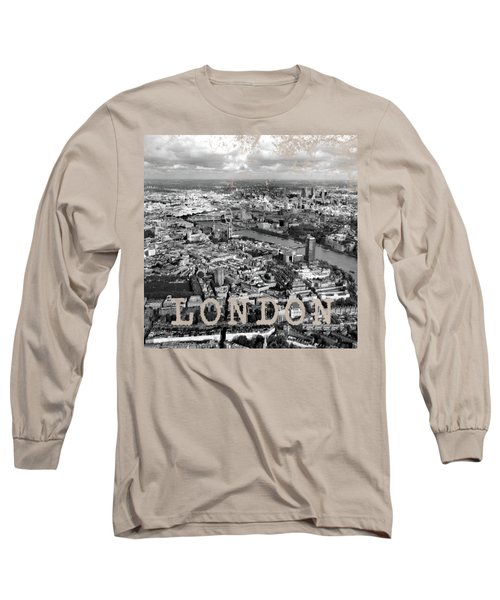 Aerial View Of London Long Sleeve T-Shirt by Mark Rogan