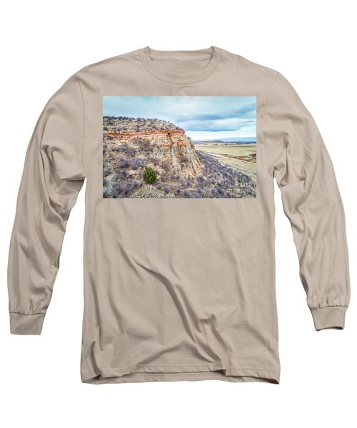 aerial view of northern Colorado foothills  Long Sleeve T-Shirt