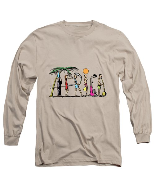 Long Sleeve T-Shirt featuring the painting Africa by Anthony Mwangi
