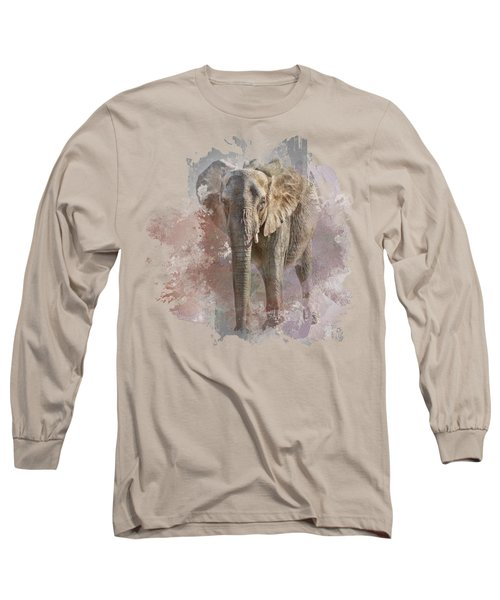 Long Sleeve T-Shirt featuring the photograph African Elephant - Transparent by Nikolyn McDonald