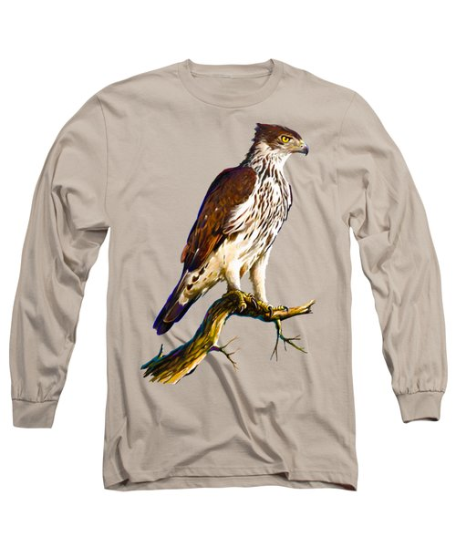African Hawk Eagle Long Sleeve T-Shirt by Anthony Mwangi