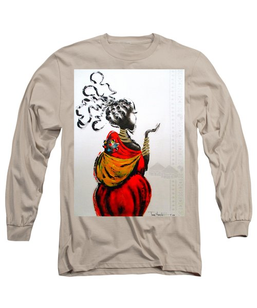 African Lady And Baby Long Sleeve T-Shirt