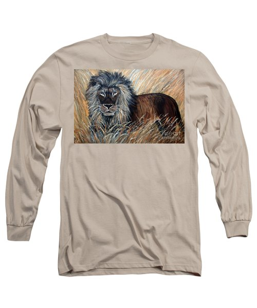 African Lion 2 Long Sleeve T-Shirt