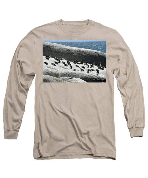 Long Sleeve T-Shirt featuring the digital art African Penguin 4 by Eva Kaufman