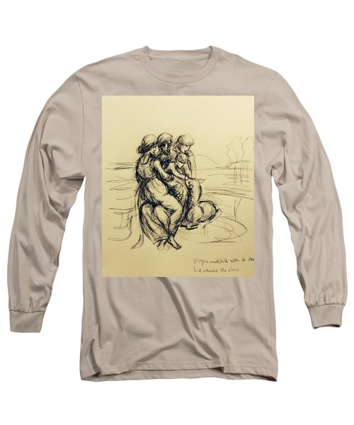 After Leonardo Da Vinci  Long Sleeve T-Shirt by Hae Kim