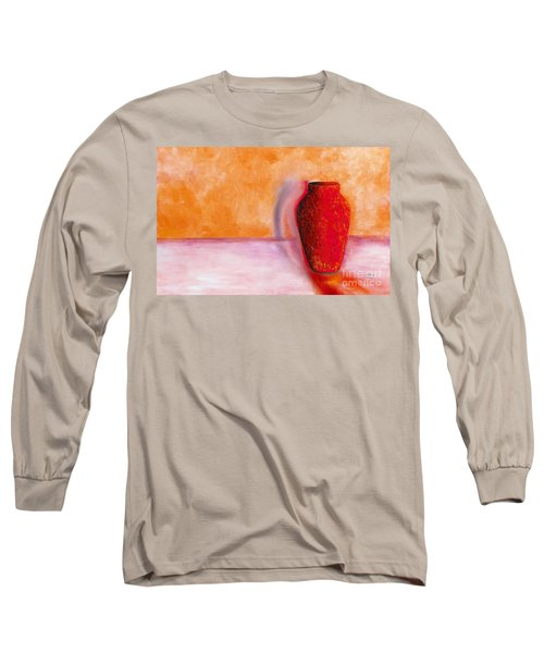 Long Sleeve T-Shirt featuring the painting Afterglow by Marlene Book
