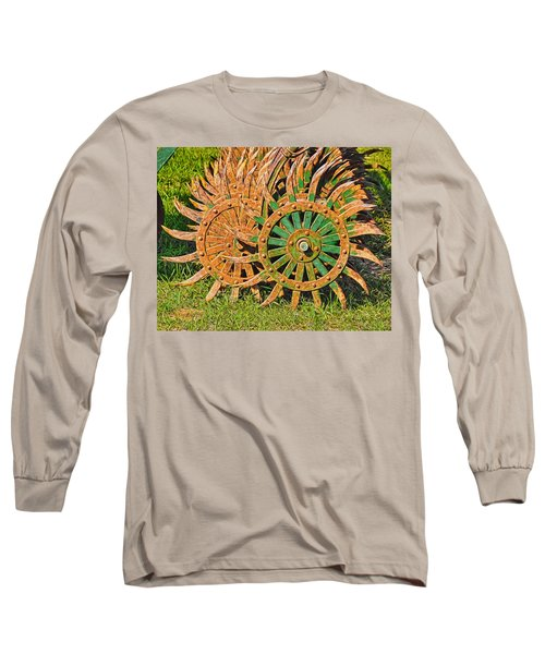 Long Sleeve T-Shirt featuring the photograph Ag Machinery Starburst by Trey Foerster
