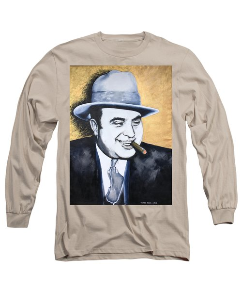 Al Capone Long Sleeve T-Shirt by Victor Minca