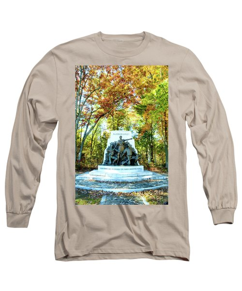 Alabama Monument At Gettysburg Long Sleeve T-Shirt
