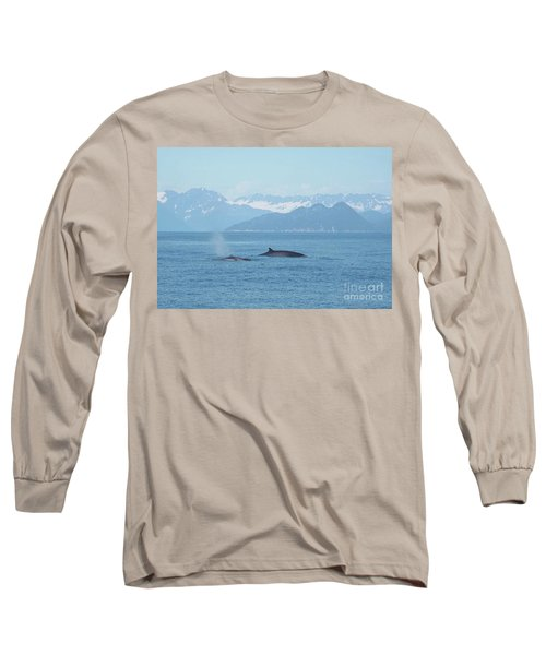 Alaska Finback Whales Long Sleeve T-Shirt