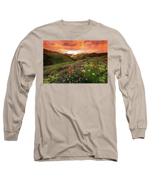 Albion Basin Golden Sunrise Long Sleeve T-Shirt