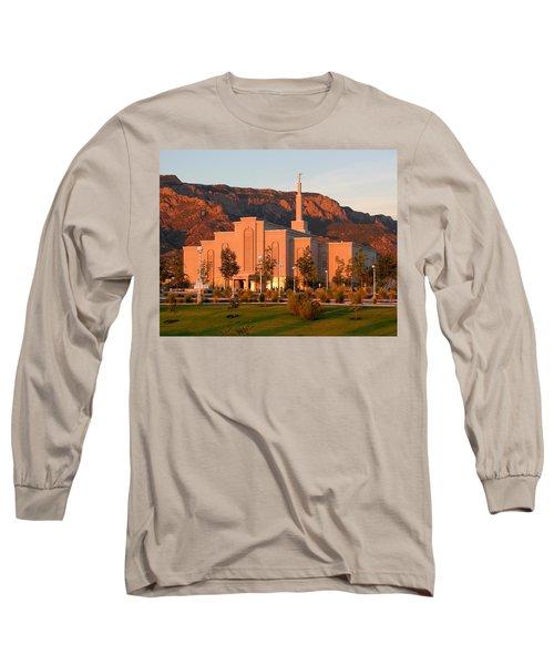 Albuquerque Lds Temple At Sunset 1 Long Sleeve T-Shirt
