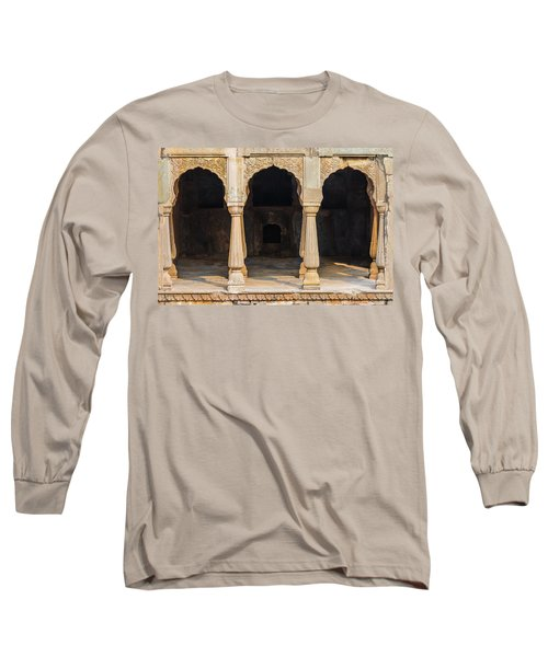 Alcoves At Chand Baori Stepwell Long Sleeve T-Shirt