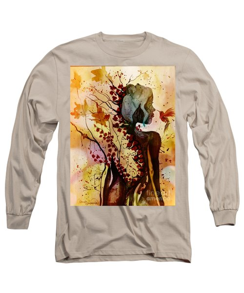 Long Sleeve T-Shirt featuring the painting Alex In Wonderland by Denise Tomasura