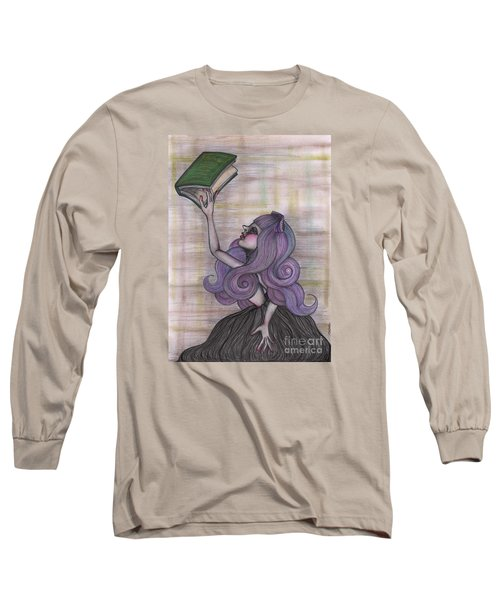 Alice With Old Book Long Sleeve T-Shirt