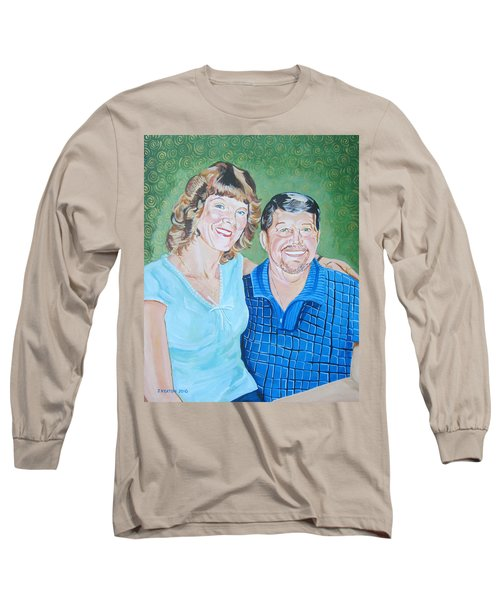 Alicia And Lee Long Sleeve T-Shirt by John Keaton