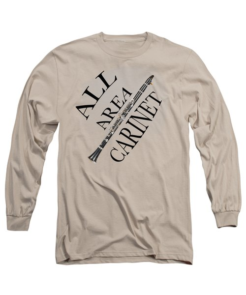 All Area Clarinet Long Sleeve T-Shirt by M K  Miller