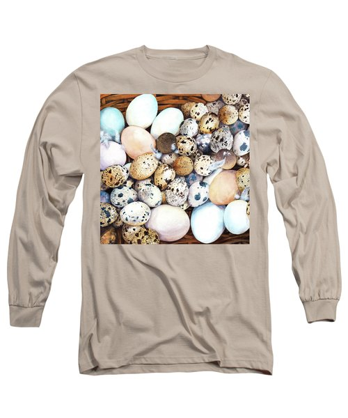 All My Eggs In One Basket Birds Egg Print Long Sleeve T-Shirt