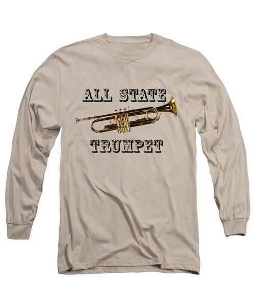 All State Trumpet Long Sleeve T-Shirt by M K  Miller