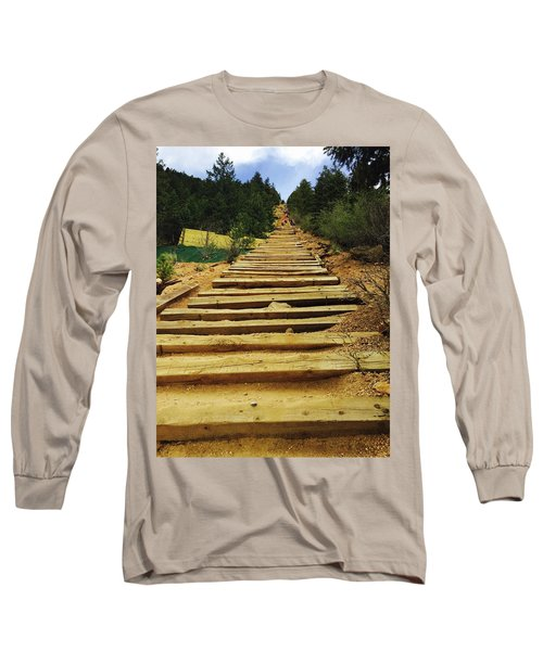 Long Sleeve T-Shirt featuring the photograph All The Way Up by Christin Brodie