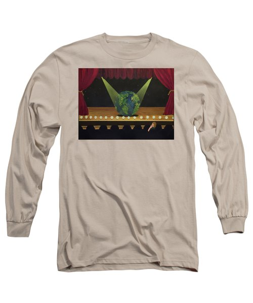 All The World's On Stage Long Sleeve T-Shirt by Thomas Blood