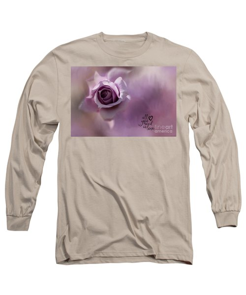 All You Need Is Love Long Sleeve T-Shirt by Eva Lechner