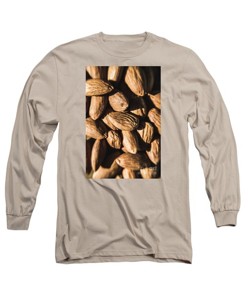 Long Sleeve T-Shirt featuring the photograph Almond Nuts by Jorgo Photography - Wall Art Gallery