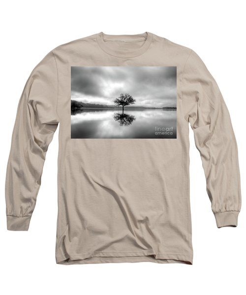 Long Sleeve T-Shirt featuring the photograph Alone Bw by Douglas Stucky