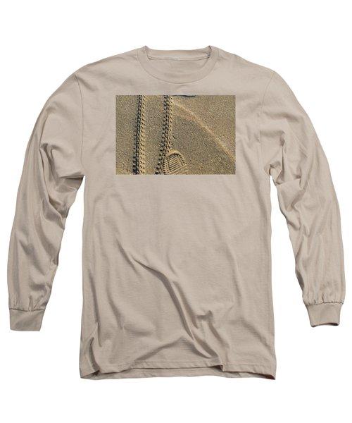 Along The Beach  Long Sleeve T-Shirt by Lyle Crump