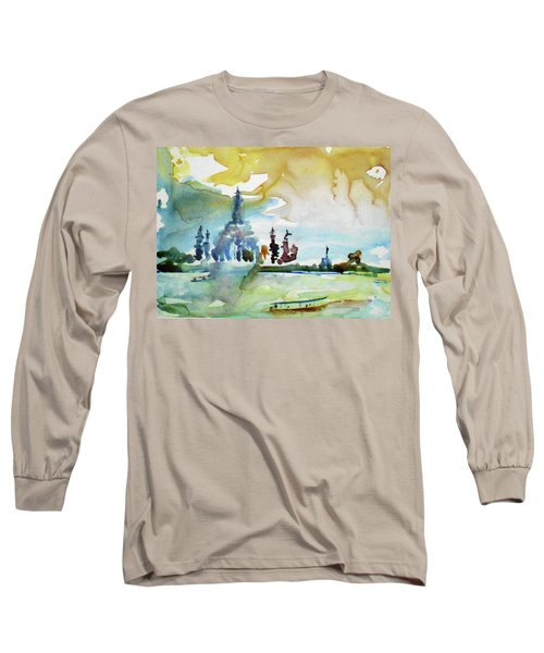 Along The Chao Phaya River Long Sleeve T-Shirt by Tom Simmons