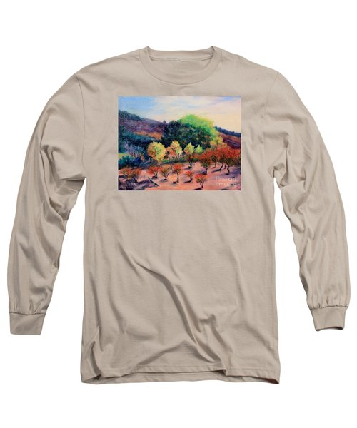 Along The Highway Long Sleeve T-Shirt by Marcia Dutton