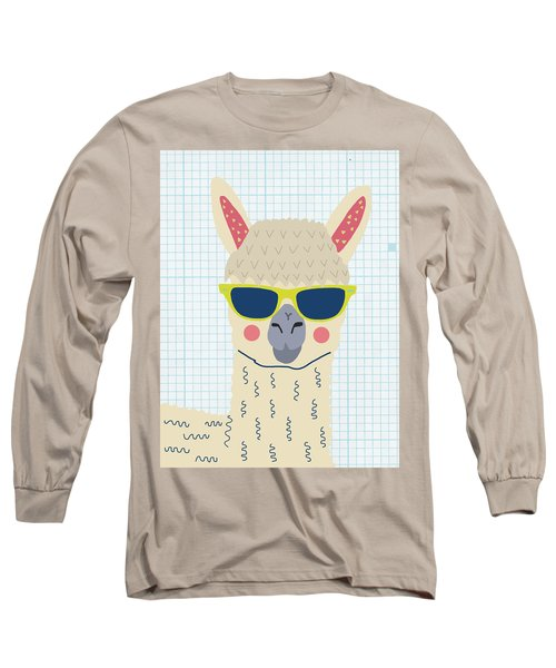 Alpaca Long Sleeve T-Shirt by Nicole Wilson