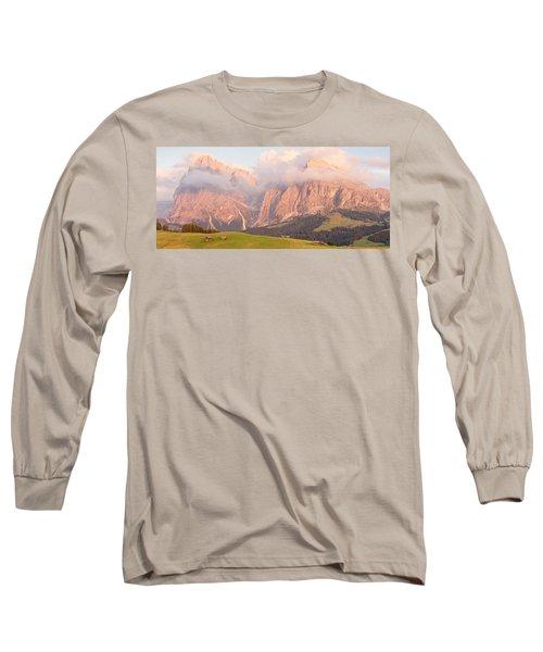 Alpe Di Suisi Sunset Panorama Long Sleeve T-Shirt