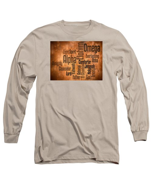 Long Sleeve T-Shirt featuring the digital art Alpha And Omega by Angelina Vick