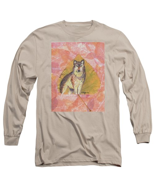 Alpha Male On Natural Leaf Long Sleeve T-Shirt by Ralph Root