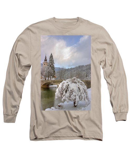 Long Sleeve T-Shirt featuring the photograph Alpine Winter Beauty by Ian Middleton