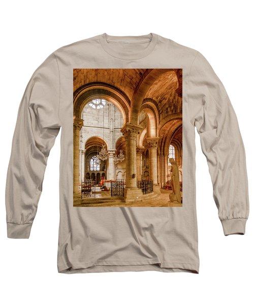 Poissy, France - Altar, Notre-dame De Poissy Long Sleeve T-Shirt