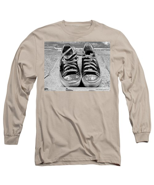 Old Sneakers. Long Sleeve T-Shirt by Don Pedro De Gracia