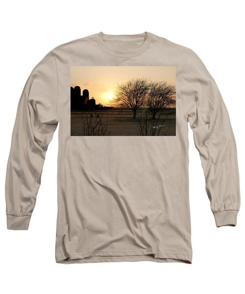Amarillo Sunset Long Sleeve T-Shirt by Ricky Dean