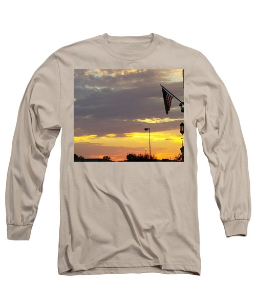 Patriotic Sunset Long Sleeve T-Shirt