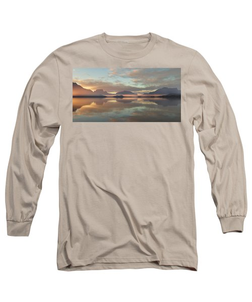 Long Sleeve T-Shirt featuring the digital art Salmon Lake Sunrise by Mark Greenberg