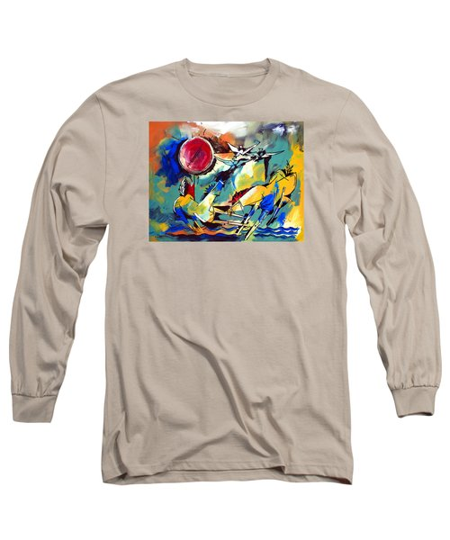 Ameeba 35-horses By The Sea Long Sleeve T-Shirt
