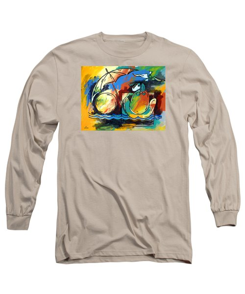 Ameeba- Woman On Beach Long Sleeve T-Shirt