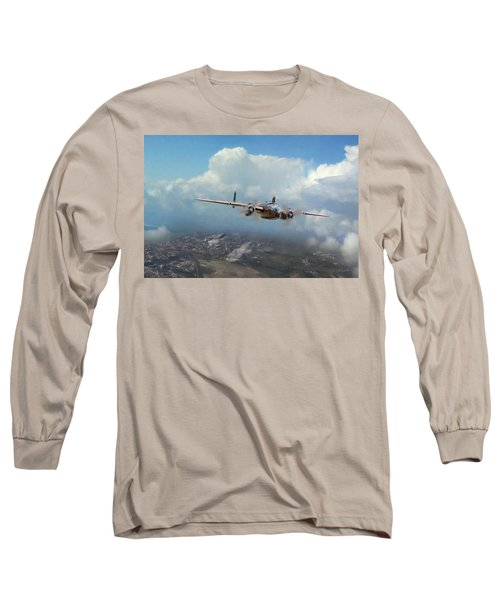 Long Sleeve T-Shirt featuring the digital art America Strikes Back by Peter Chilelli