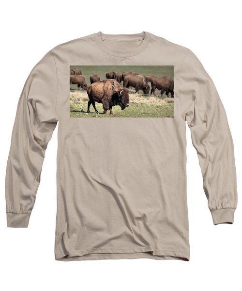 Long Sleeve T-Shirt featuring the photograph American Bison 5 by James Sage
