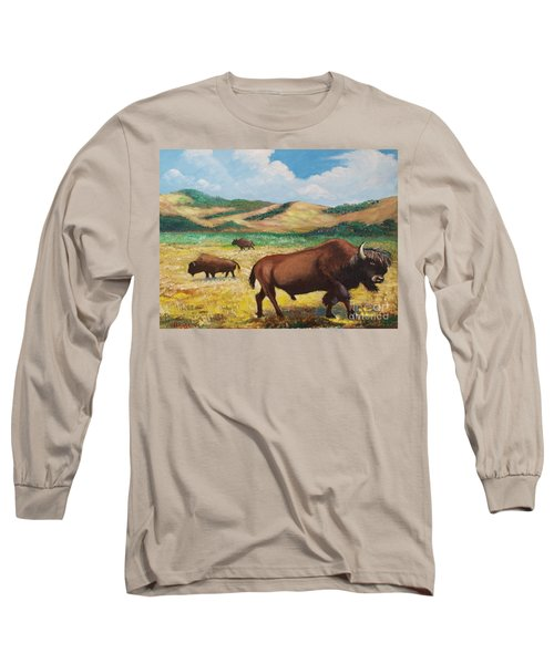 American Bison Long Sleeve T-Shirt