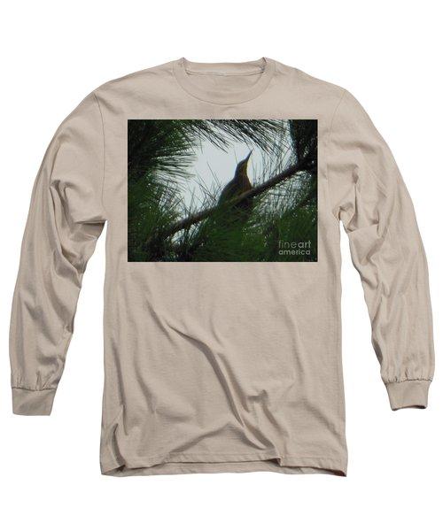 Long Sleeve T-Shirt featuring the photograph American Bitten Bird by Rockin Docks Deluxephotos