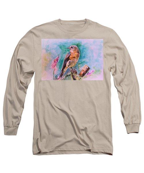 American Blue Bird Long Sleeve T-Shirt