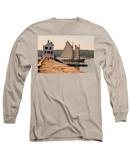 American Eagle At The Lighthouse Long Sleeve T-Shirt